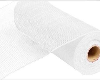 10 Inch White Value Deco Mesh Roll RE800227, Deco Mesh Supplies