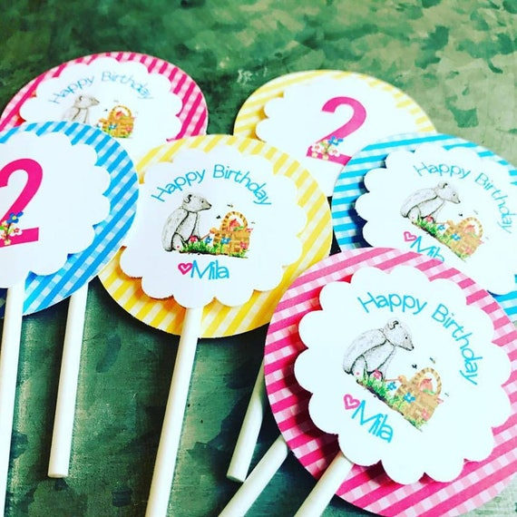 Teddy Bear Picnic Cupcake Toppers