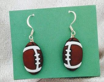 football earrings sports earrings brockus creations