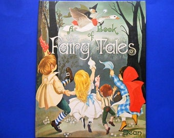 A Book of Fairy Tales Illustrated by Janet and Anne Grahame Johnstone, a Vintage Children's Book