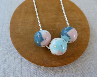 Colour Wheel Ball Necklace 60cm