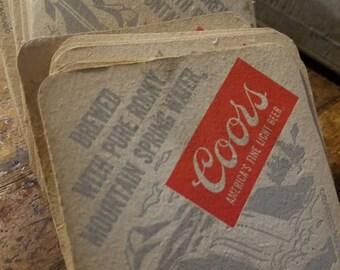 vintage coors beer cardboard coasters 63 total.