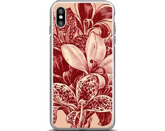 Floral iPhone 6 Case Pink Flower Phone Case Botanical Illustration Flower iPhone 7 Case Pink Floral iPhone 7 Case Flower iPhone Case