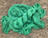 Leah. Silk / Cotton Lace Yarn. Blue Green Algae