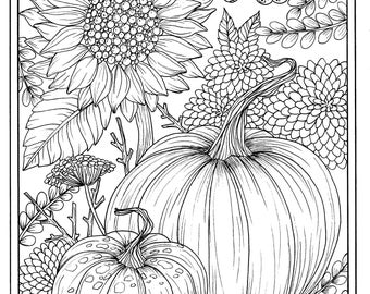 fall flower coloring pages - photo#35