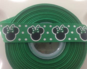 Green mouse st Patrick's day  grosgrain ribbon