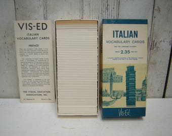 Italian Vocabulary Cards Boxed Set of 1000 By Vis-Ed