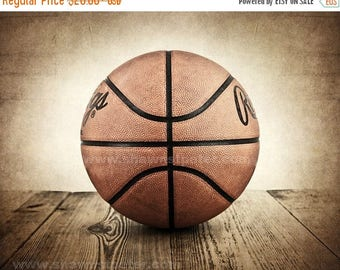 FLASH SALE til MIDNIGHT Vintage Basketball on Wood  Photo print, Boys Room decor, Boys Nursery Ideas, Sports art, Sport Prints, Man Cave