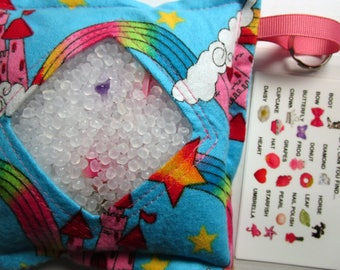 I Spy Bag Game, Castles Rainbows, Girls, seek and find, busy bag, travel toy game, gift, sensory occupational therapy, eye spy, vacation