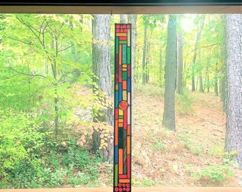 Beautiful stained glass panel gift stained glass window glass art home decor window treatment