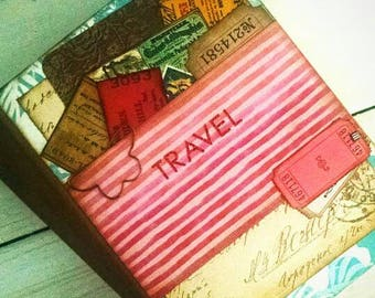Travel Journal Smashbook Art Journal Keepsake with Unlined Pages