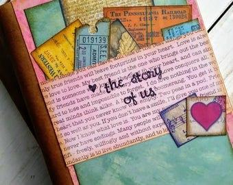 The Story Of Us TN Insert Journal Life Sketchbook Art Keepsake Unlined Pages Wedding