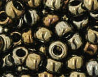 Japanese (TOHO)  6/0 Seed Bead, Metallic IRIS BROWN, #83, metallic, purple, brown, iris, Kumihimo, Beadweaving, Beading, Jewelry