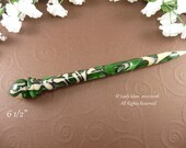 Hair Stick Longer Length Emerald Cream Acrylic