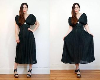 FREE SHIPPING Vintage Indian  Grecian  Backless Cotton Gauze Dress Boho Dress Hippie Dress Ethnic Gauze Cotton Dress 70s