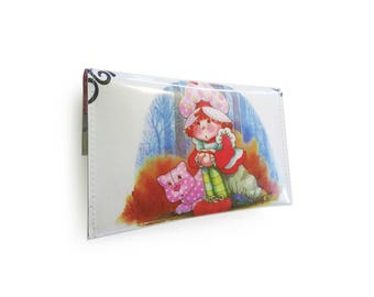 Strawberry Shortcake Purse - Recycled Vintage Book Page in Vinyl
