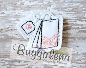 Tea Bag with Heart Feltie Design