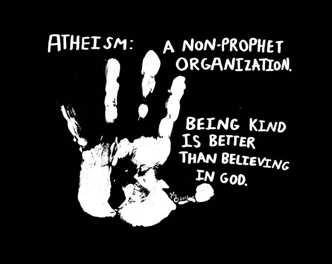 Art Print Punk Shirts Punk Shirt Atheist Pastafarian Agnostic Freethinker XVX DIY Humor Kindness Crust Anarcho Peace Punk Shirt