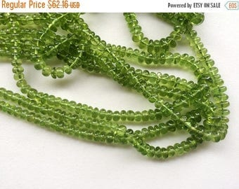 ON SALE 55% Peridot Plain Rondelle Beads, Natural Peridot Beads, Peridot Necklace, 4-7mm, 8 Inch Strand - AGA6