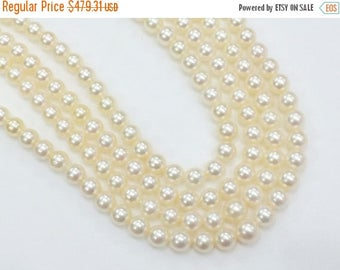 ON SALE 55% Ivory South Sea Pearls, Natural Pearls, Original South Sea Pearls Non Treated Round Balls, 5-6mm, 9 Inch Strand, 34 Pcs