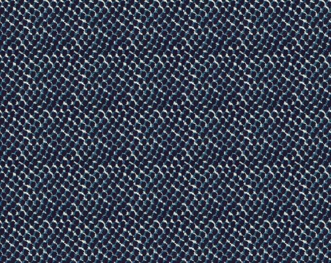 Kravet Mazzy Dot in Navy Designer Pillow Cover, Velvet Pillow Cover, Square, Lumbar and Euro Pilllow Cover Sizes,  Pillow Sham