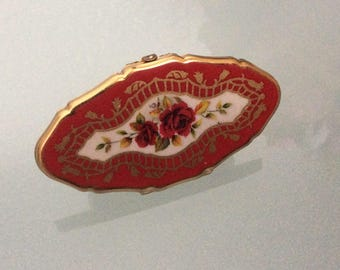 Vintage  Stratton Rose  Lipview Mirror lipstick holder Made in England
