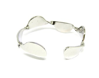 Stainless Steel Bracelets, Cuff, Women, Men, Adjustable, Mirror Finished, BLB 70