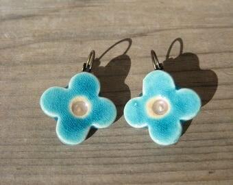 Turquoise clovers LES jewelry DE LA DIVA earrings