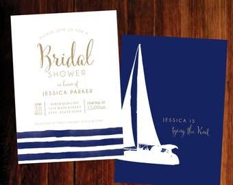 Nautical Bridal Shower invitations - set of 30