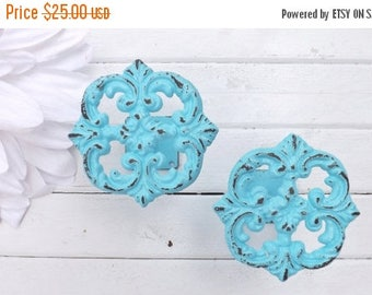 On Sale Window Treatment Cast Iron Curtain Tie Backs Shabby Chic Decor Drapery