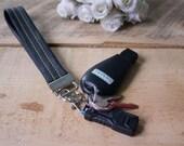 Custom Order GREEN Leather key fob