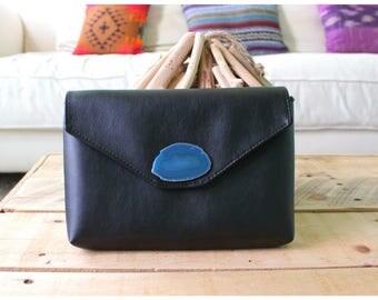 Geode Clutch - agate stone - agate stone bag - geode stone bag - agate stone purse - leather clutch - custom geode stone clutch
