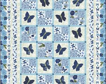 Butterfly Blossoms Quilt ePattern, 48605e, twin quilt pattern, butterfly twin quilt