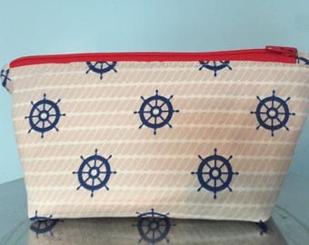 Nautical Zipper Pouch