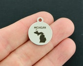 Michigan State Stainless Steel Charms - Exclusive Line - Quantity Options - BFS3524 NEW5