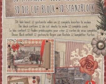 34646 block images 3d die cut vintage Christmas