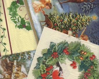 001 - lot 5 Christmas themed paper napkins