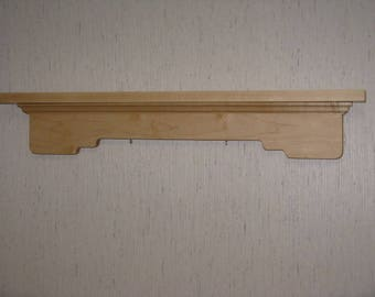 Maple wall Shelf or Sports Award Display for Swimming, Hockey, Skiing, Snowboarding, Track, Basketball, Baseball, Soccer or any sport