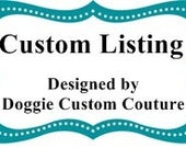 Custom Listing for Becky 4 Ribbon BOWS Size All  Small Adjustable D Ring Dog Leash Dogs Hair
