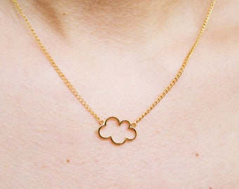 head in the clouds -necklace (minimal everyday neckpiece 16k gold plated)