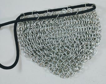 Chainmail Dice Bag   Gaming bag   Table Top dice bag  Chain mail