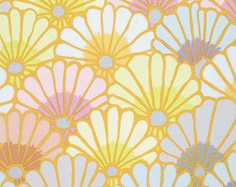 Thousand Flowers in Chalk  PWGP144 - Philip Jacobs - Kaffe Fassett Collective - Free Spirit Fabric - By the Yard