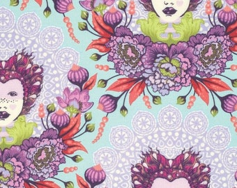 SALE 10% Off - 16th Century Selfie in Plum  PWTP062 - ELIZABETH by Tula Pink  - Free Spirit Fabric  - By the Yard