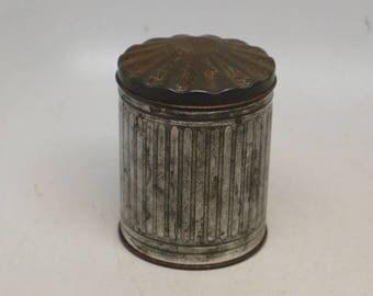 Vintage Salesman Sample Garbage Can - Salesman Sample - Tin Garbage Can - Tin Trash Can