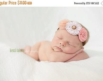 12% off Newborn headbands Baby headband Adult headband Child headband Baby hairbow Photo prop Preemie headband Teen headband flower headband