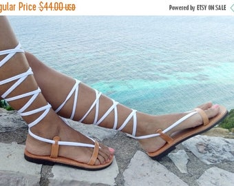 ON SALE gladiator sandals, lace up sandals, Tie Up leather sandals, NEW Ss17