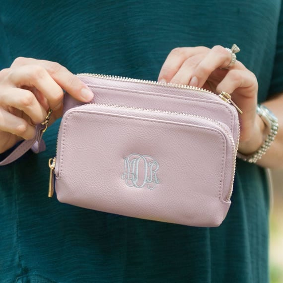 Sloane Wristlet in Blush Pink