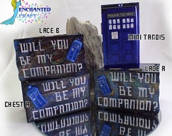 Doctor Who Tardis ring box- Will you be my Companion-  Personalize for free for your Whovian