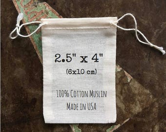 Cloth favor bags, Set of 25, unprinted natural cotton, double drawstring bags, muslin bags, party favor bag, gift bags, drawstring bag