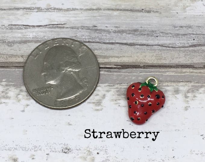 Strawberry charm necklace